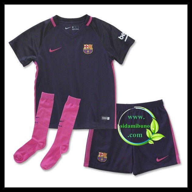 Fotballdrakter FC Barcelona Barn Bortedraktsett 2016-2017