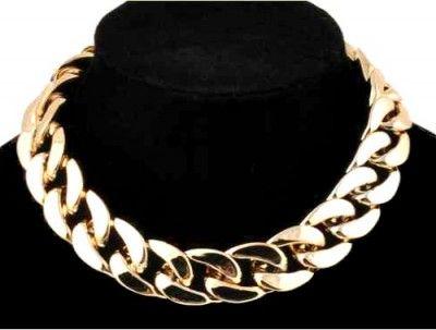 Naszyjnik Kolia Gruby Łańcuch Pancerka Złoty. #naszyjnik #necklace