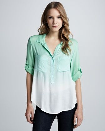 Bella Dahl  Soft Dip Dye Blouse