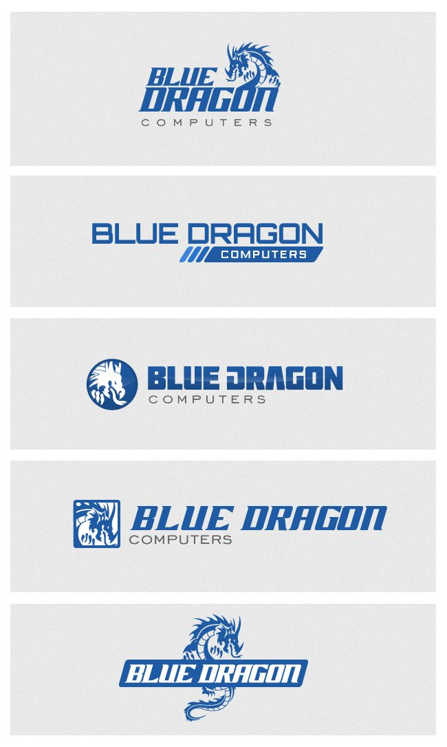Blue Dragon logo design