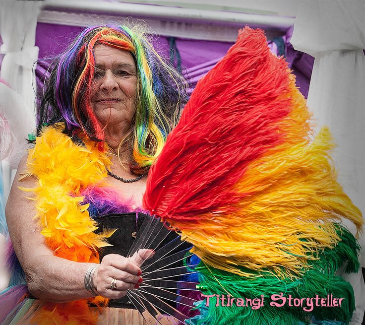 Spotted this lady in the Auckland Pride Parade today. She's got some stories to tell I bet… what I wouldn't give to pass a few afternoons with her over a few bottles of wine, letting her life story unfold… right up to getting dressed for the parade today… maybe one day… if I ever find out who she is…