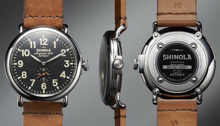 Shinola Watch, made in Detroit www.mettlersamerica.com