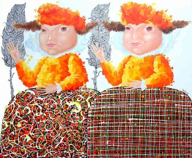 'Twinship' - #Yelena - http://ift.tt/1XRnl39 ... #art #propertstyling #interiorstyling #decorative #interiodesign #bondi #sydney #melbourne #adelaide #perth #canberra #livingroom #modernart #gallery #boys #illustration #usa #couple #brisbane #abstractart #artista  #surrealism