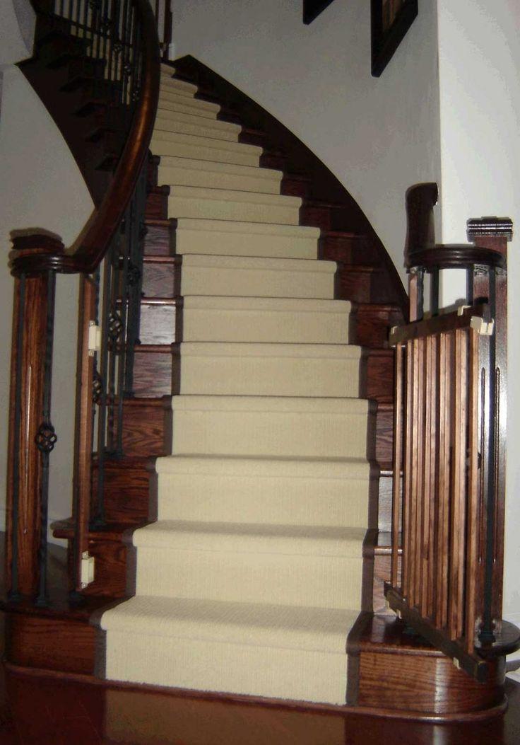 Dark Oak Stairs And Risers, Light Stair Runner