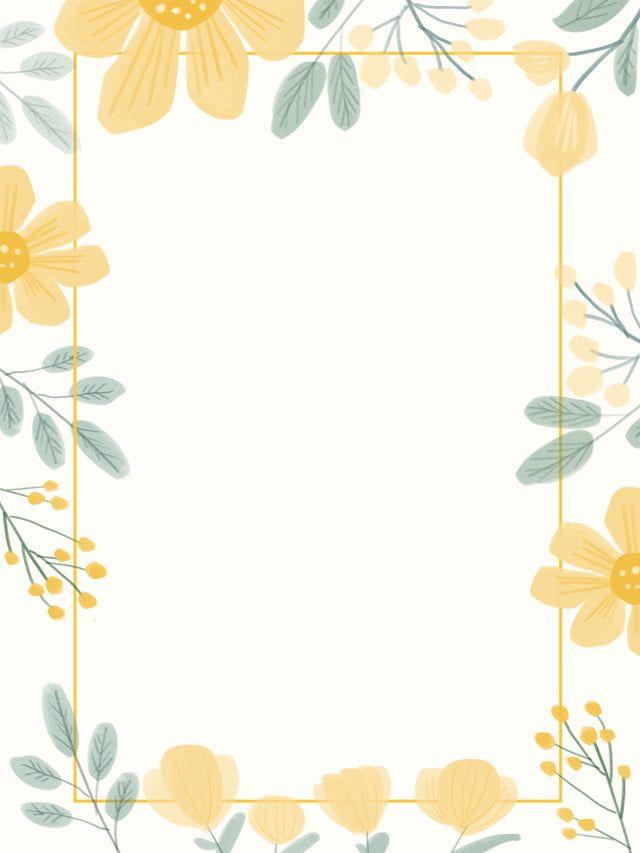 fresh wedding border flowers hand drawn background di 2020 kartu pernikahan bingkai undangan pernikahan pinterest
