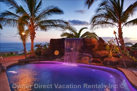 Paradise with beautiful ocean views! Private estate villa with pool, waterfalls & hot tub in Lahaina, Maui.
