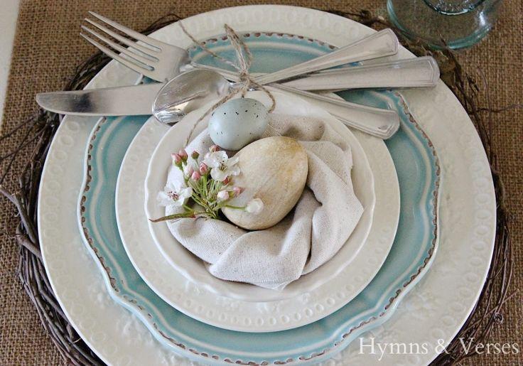 DIY Napkins and Bird's Nest Napkin Fold - Hymns and Verses