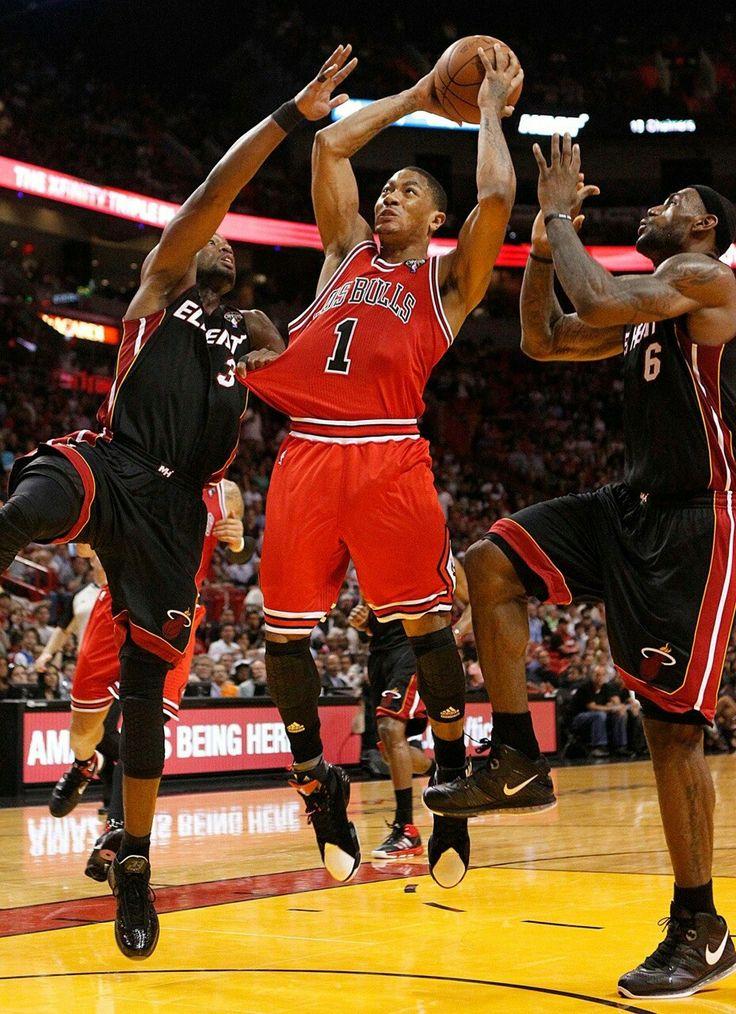 Artık beraberler...  #Wade #Rose #James #NBA #Cleveland