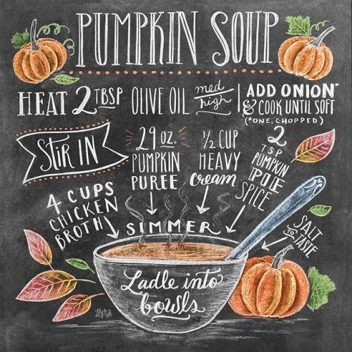pumpkin soup recipe illustration Valerie McKeehan
