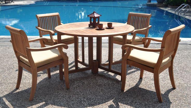 Teak Patio Table Set