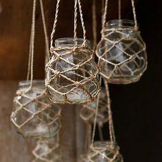 12 originales y sencillas ideas para reciclar tarros de cristal | Decoración