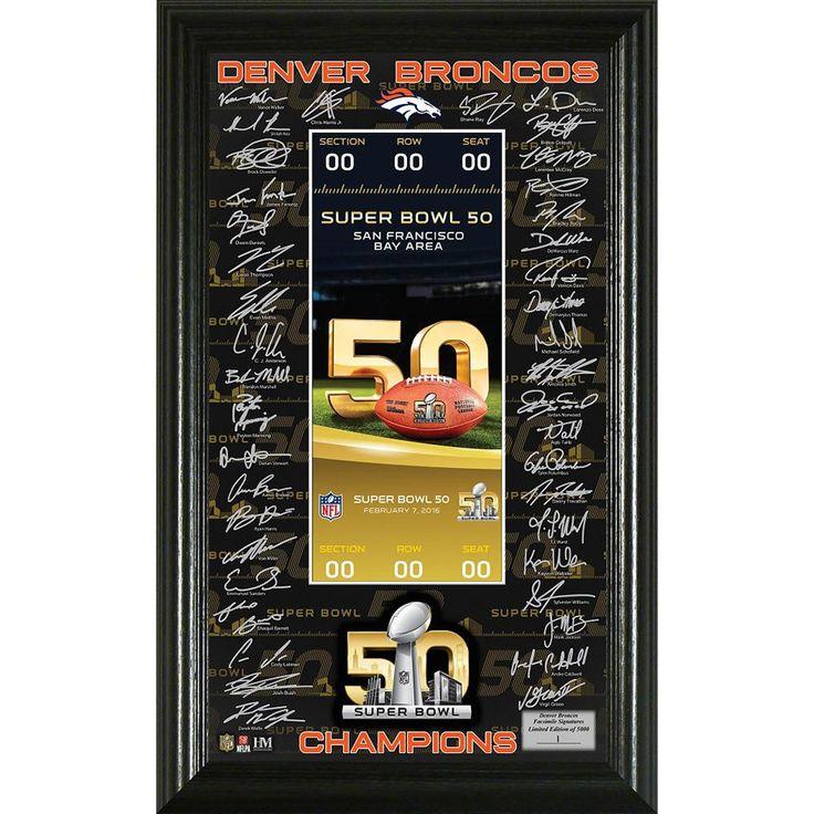 denver broncos super bowl 50 champions signature ticket nfl