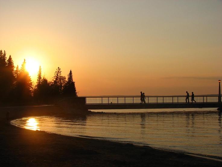 Main pier at Clear Lake in Riding Mountain National Park, Manitoba, Canada.