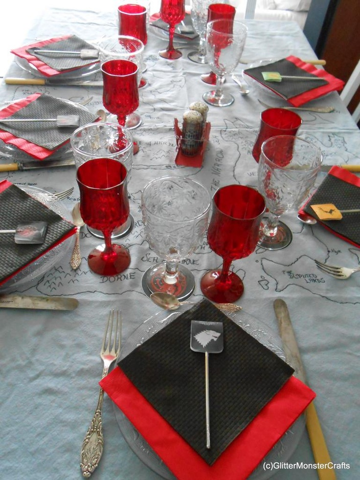 Game Of Thrones Table Decor Theme Event Ideas