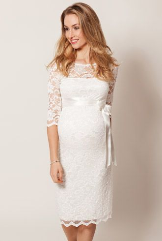 Amelia Lace Maternity Dress Short (Ivory) - I have this dress for sale if you want to msg me directly!
