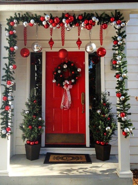 DIY craft to decor porch on 2013 christmas www.loveitsomuch.com