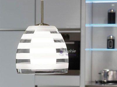 Lampadario moderno acciaio cromato cristallo lampada sospensione cucina bagno