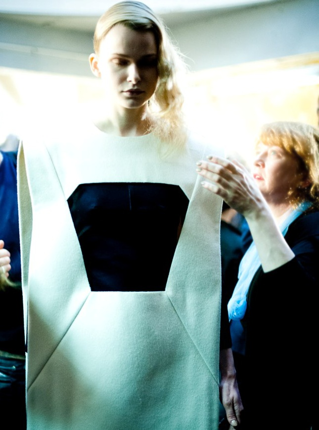 backstage at Hussein Chalayan Fall-Winter 2012-13