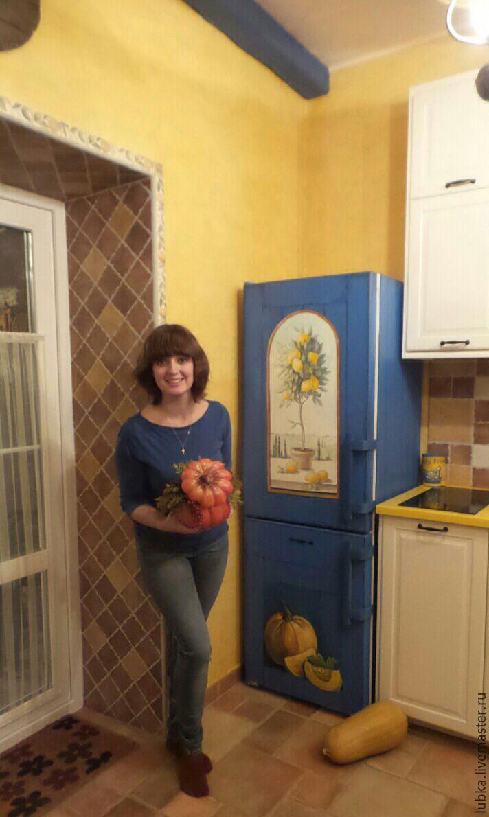 Роспись холодильника Лимоны - fridge painting