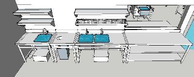 Peralatan dapur restoran, instalasi gas, pembuangan asap restoran - Peralatan stainless dapur komersial, instalasi gas, pembuangan asap restoran, exhaust hood, kitchen sink, stainless table