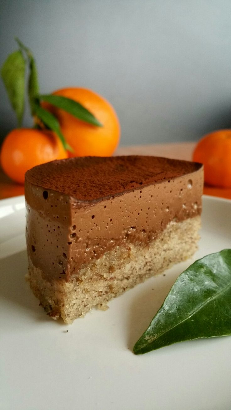 Entremet vegan au chocolat et aux zestes d'orange
