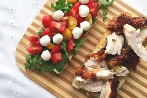 Roasted Chicken Caprese Sandwich Recipe - Grilled Cheese Social