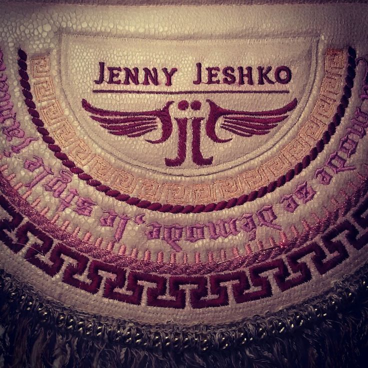Embroidery on handbag by #jennyjeshko