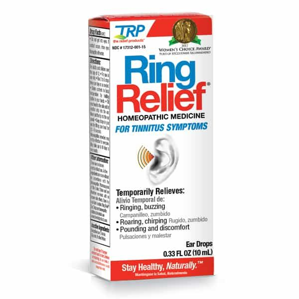 Relief for symptoms like tinnitus, buzzing, ringing, roaring