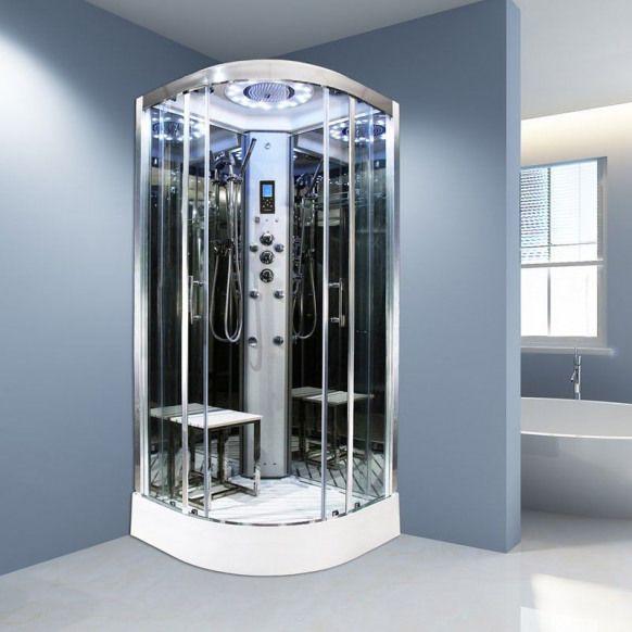 Insignia Platinum Quadrant Steam Shower Cabin 1000 X 1000 Shower