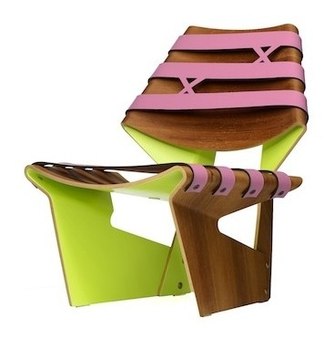Pink Jalk Project GJ Chair designed by Gisue & Mojgan Haria of Hariri & Hariri Architecture