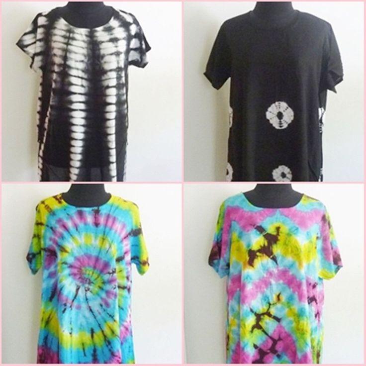 Tie dye shirt blouse long shirt M/L chest 40-44 inch Back cut/ Side cut shirt  #Unbranded #Blouse #Casual