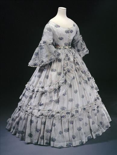 ThanksPretty ruffles!    1864 summer dress - From Musee Galliera awesome pin