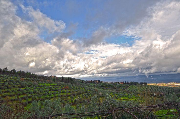 #panorama #toscana #valdarno #nuvole