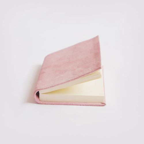 SUEDE NOTEBOOK - Dusky Pink