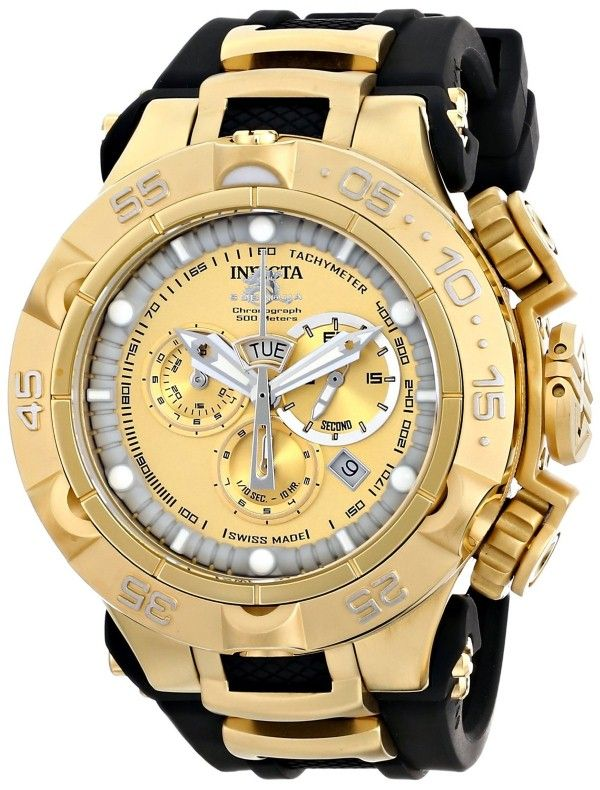 17 best ideas about gold watch for men invicta gold gold watches for men invicta men s 15926 subaqua analog display swiss quartz black watch