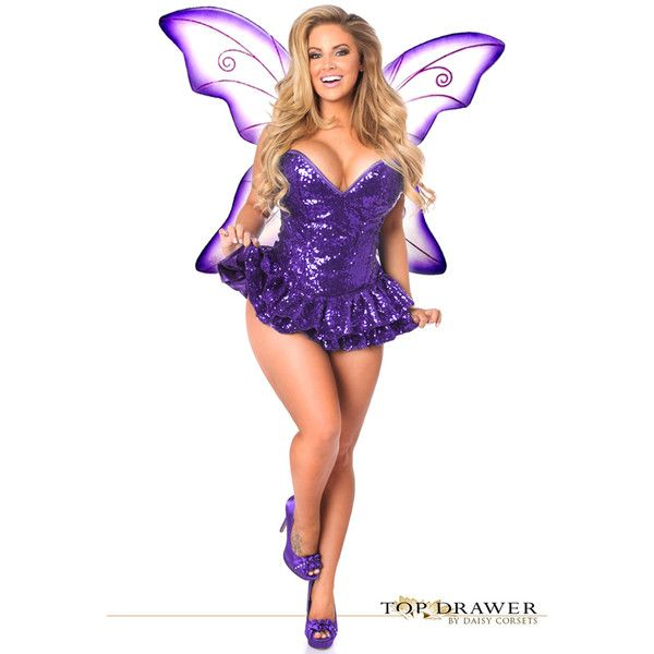 Plus size premium sequin purple fairy corset dress costume ($190) ❤ liked on Polyvore featuring costumes, plus size, purple, fairy halloween costumes, plus size halloween costumes, plus size costumes, sequin costume and plus size fairy costume