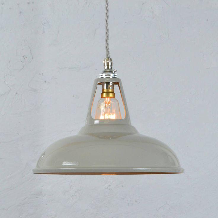 Light Grey Vintage Industrial Pendant Lamp