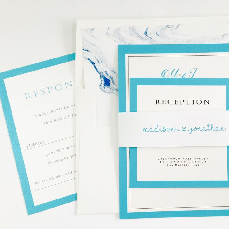 Tiffany Blue Wedding Invitation Set