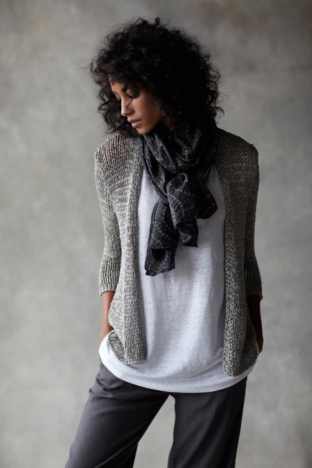Love the look of the comfy but elegent fabrics. Eileen Fisher