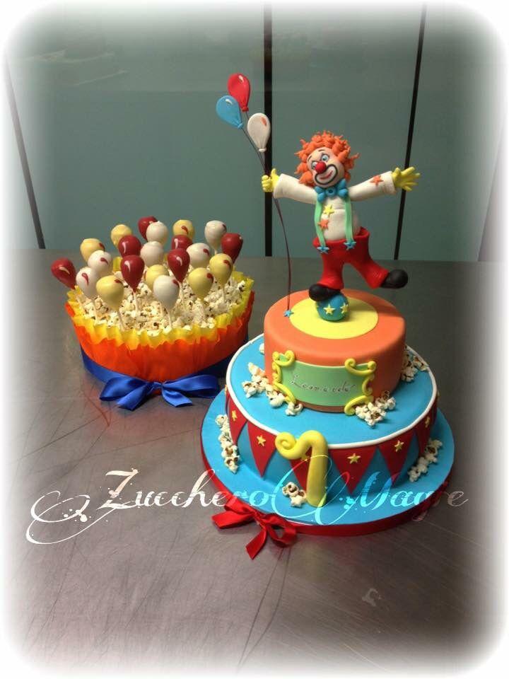Circus cake and cake pops
