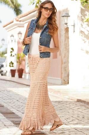 boho crochet skirt for sale
