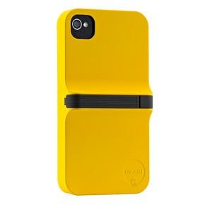 Finger Case iPhone 4/4S Ylw Blk Ozaki