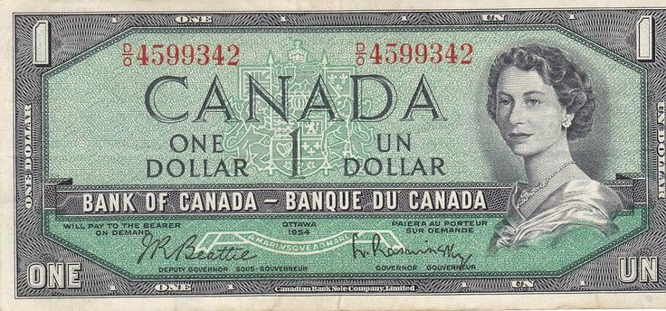 The REALLY old One Dollar note.