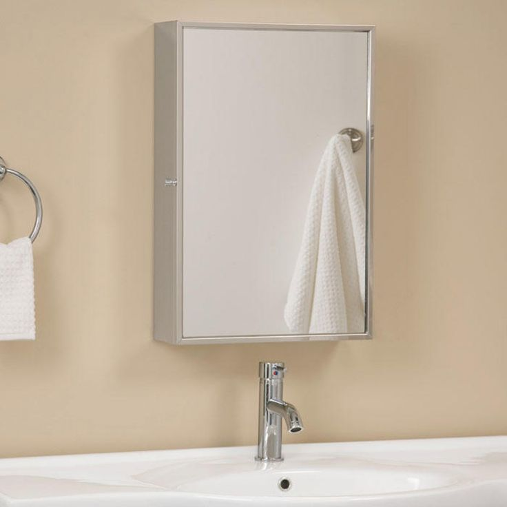 Echo Stainless Steel Medicine Cabinet with Mirror