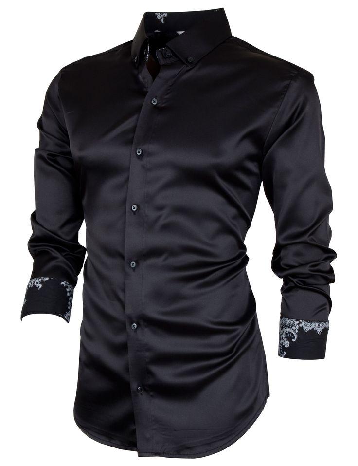 PorStyle Men's Satin Slim Fit Dress Shirts http://porstyle.com http://www.amazon.com/PorStyle-Satin-Dress-Shirts-BLACK/dp/B00F03KFA2/ref=sr_1_6?s=apparel&ie=UTF8&qid=1378969331&sr=1-6&keywords=porstyle