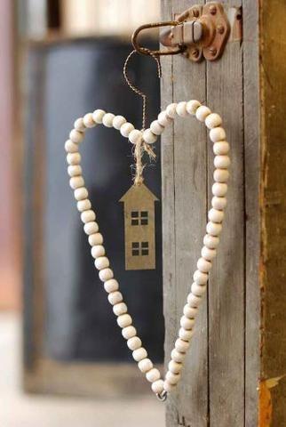 """My Heart My Home"" Decorative Beaded Window Wish Catcher - Mellow Monkey"
