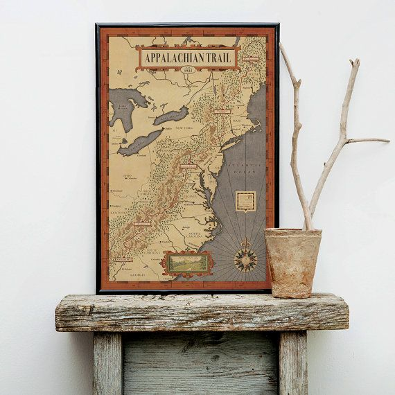 Appalachian Trail Map, The people's Trail Map, Hiking trail map, america trail…