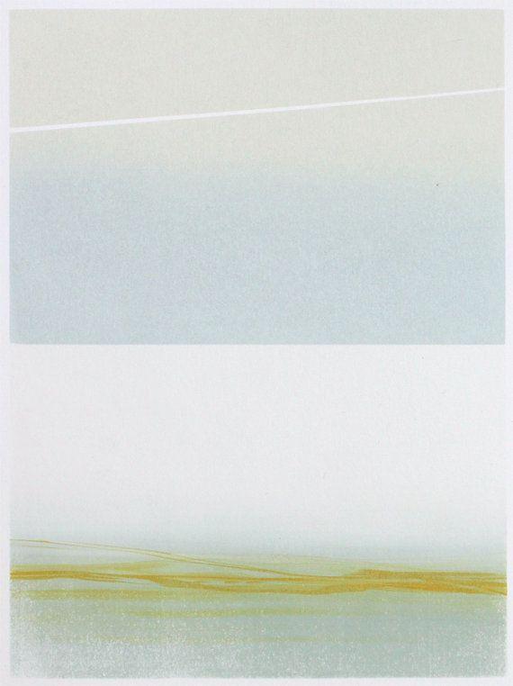 River and Sky May 10: Original Silkscreen Print 8 by AnneSmithArt