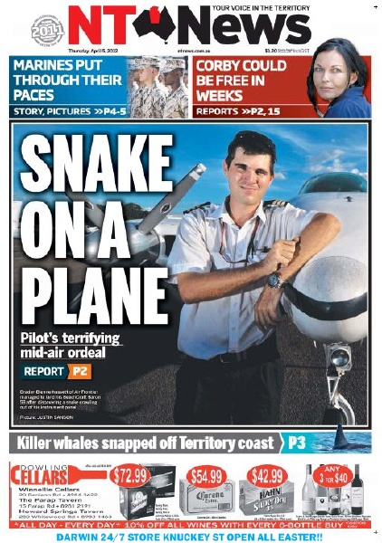 Vintage NT News headline.