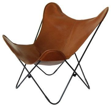 Bat chair in leather
